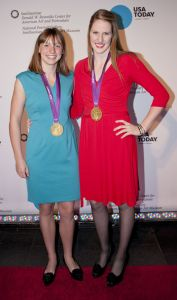 Katie Ledecky, Missy Franklin, and their favorite pieces of jewellery.