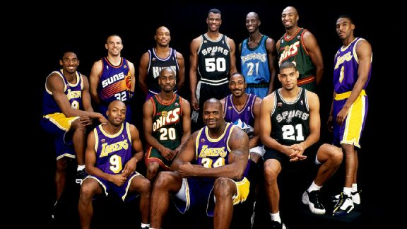 The 1998 West all-stars. Only one player played in that game and the 2015 all-star. A hint: It's not Nick Van Exel!