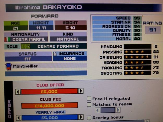 Not sure if Ibrahima Bakayoko or Lionel Messi.