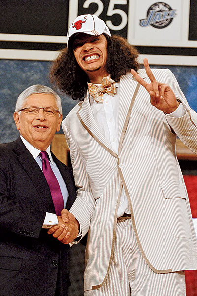 Joakim Noah with The. Best. Photo. In. Draft. History.