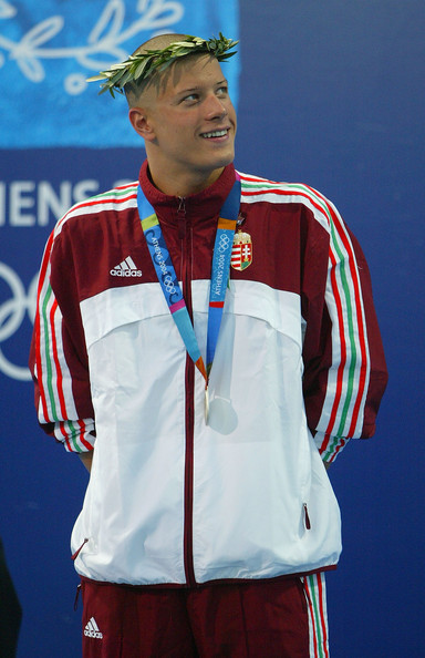 Daniel Gyurta at the Athens Olympics, after Laszlo Czeh recommended him his barber.
