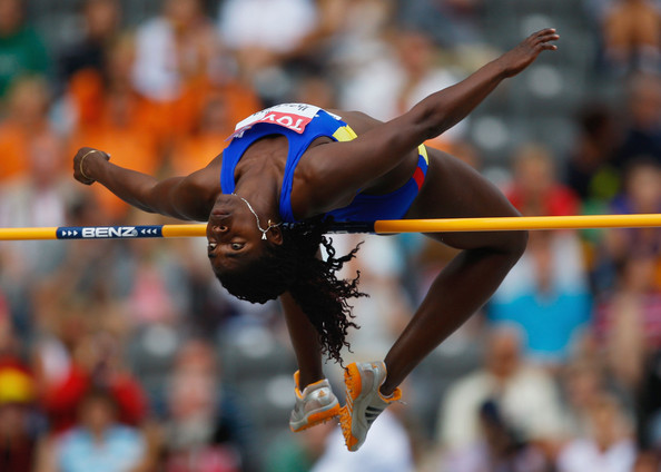 Caterine Ibarguen... in the high jump!