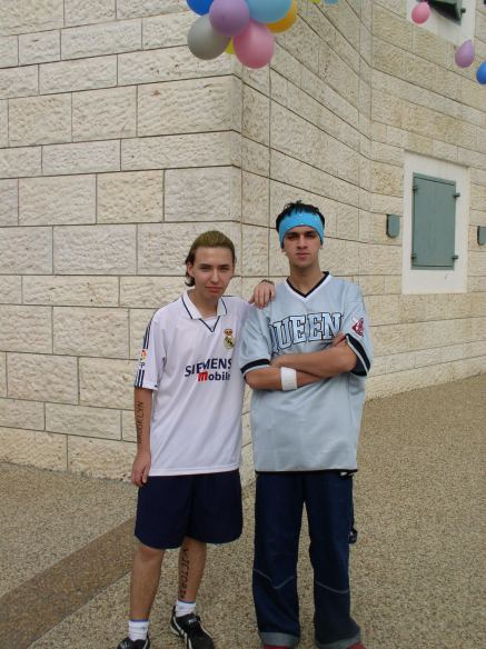 Purim 2004: Me and my friend Danny