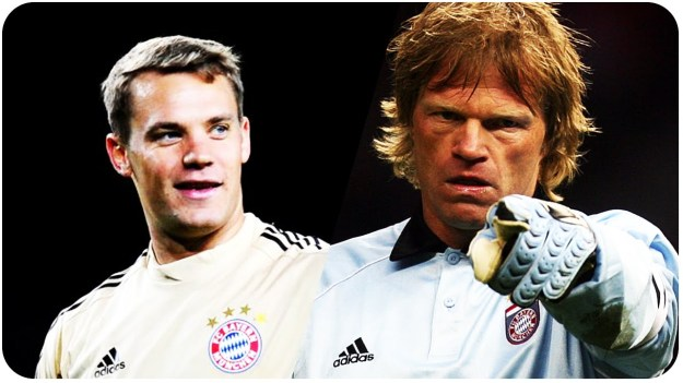 Neuer is definitely the most GERMAN goalkeeper since Oliver Kahn. I mean, all GK's who play for Germany are Germans, but Neuer is GERMAN, right? Just like Kahn was.