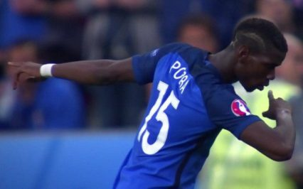 Dear Paul Pogba, please don't do this stupid dab thing. Kids see you and think it's ok to do it.